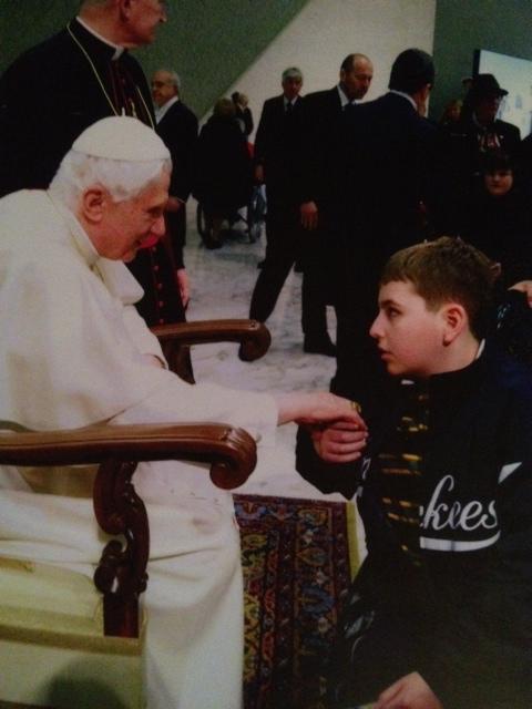 Tristan with Pope Benedict XVI
